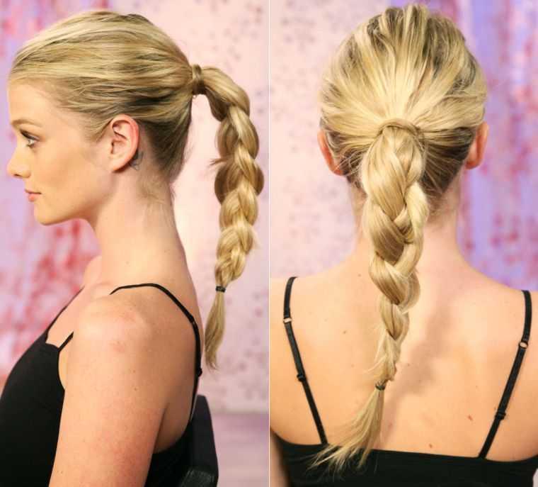 mujer trenzas peinados