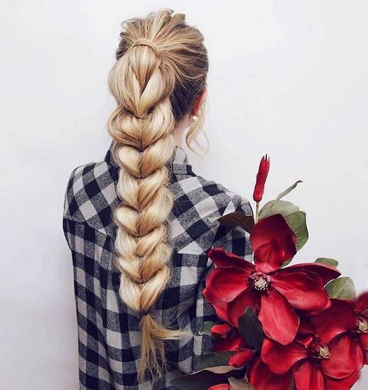 Fotos trenza peinado mujer fácil