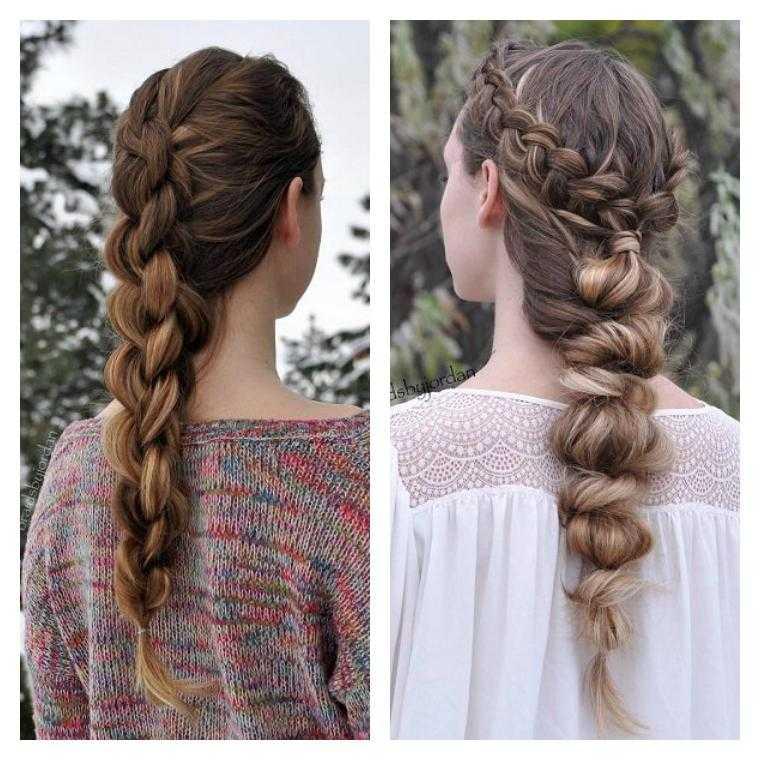 mujer peinados trenzas fácil