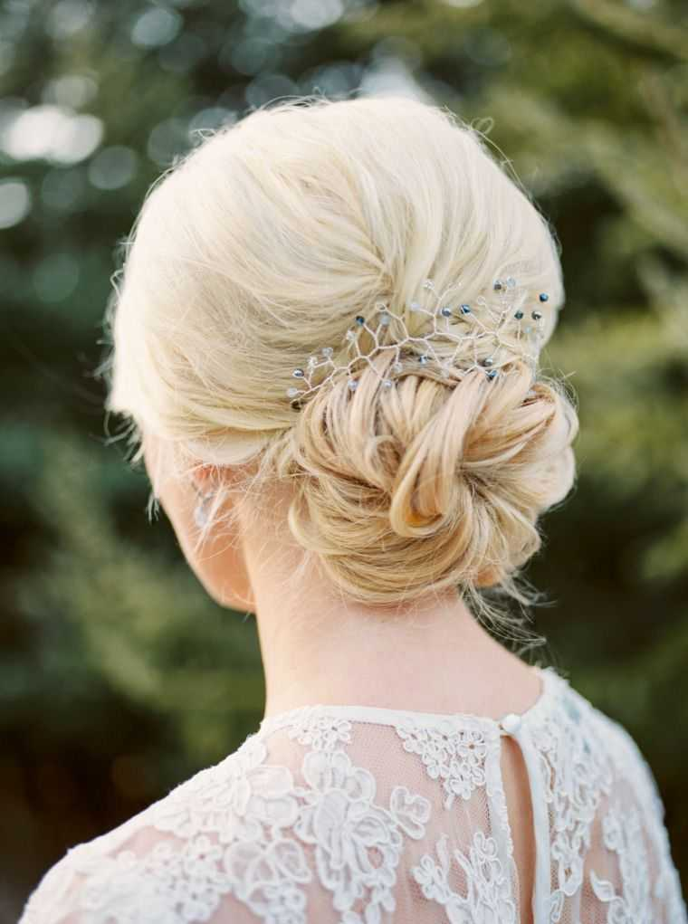 peinados de salón de bodas corte de pelo largo medio