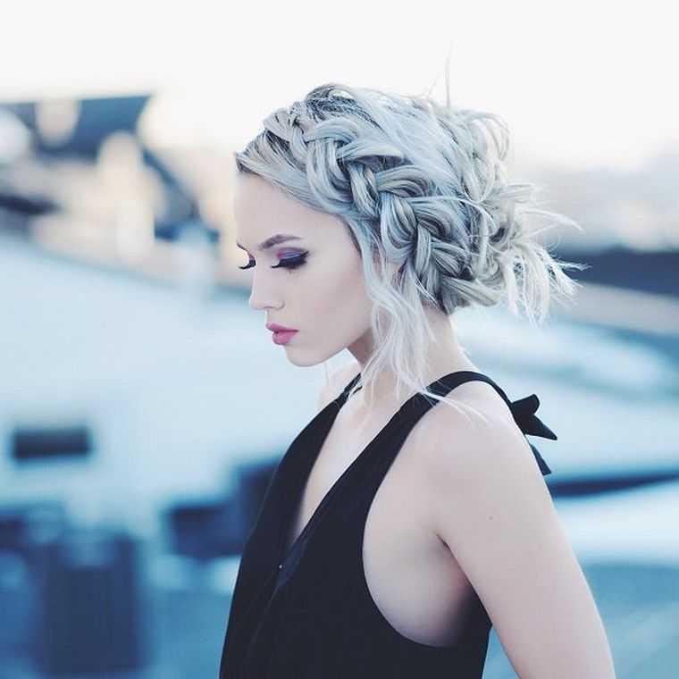 peinados de trenzas mujer corona