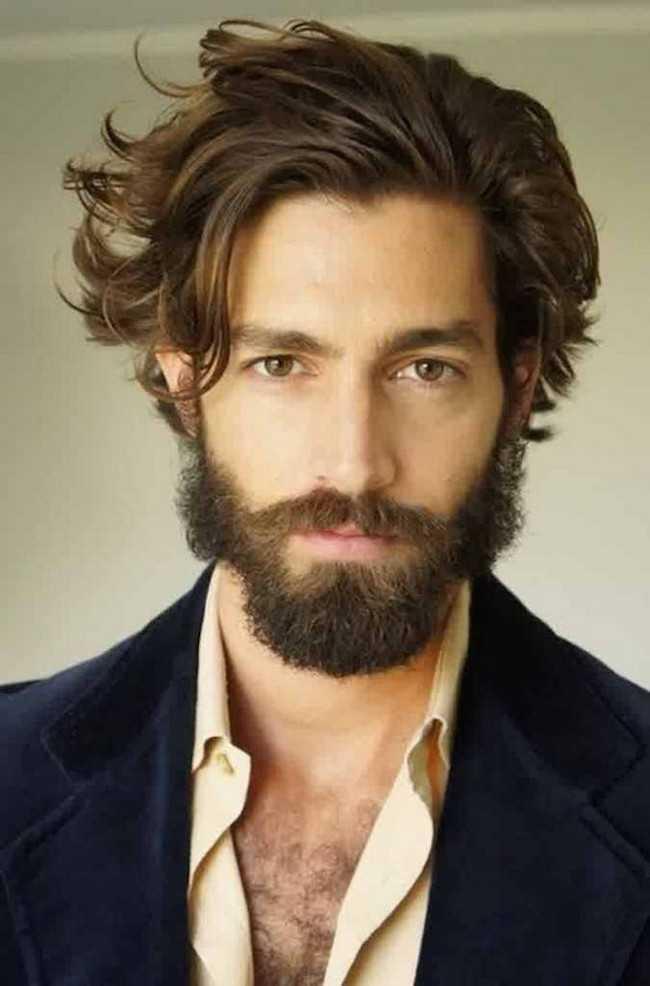 hombres largos peinados ponytail