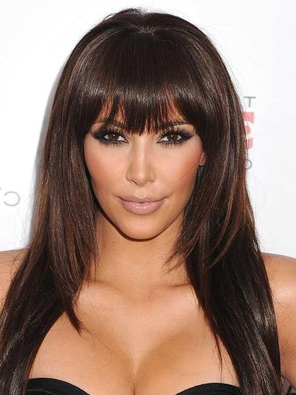 cortes de pelo de longitud media con bang