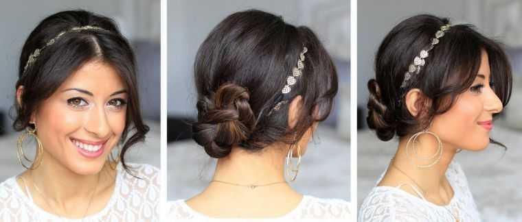 estilo de peinado de la boda modelo moño