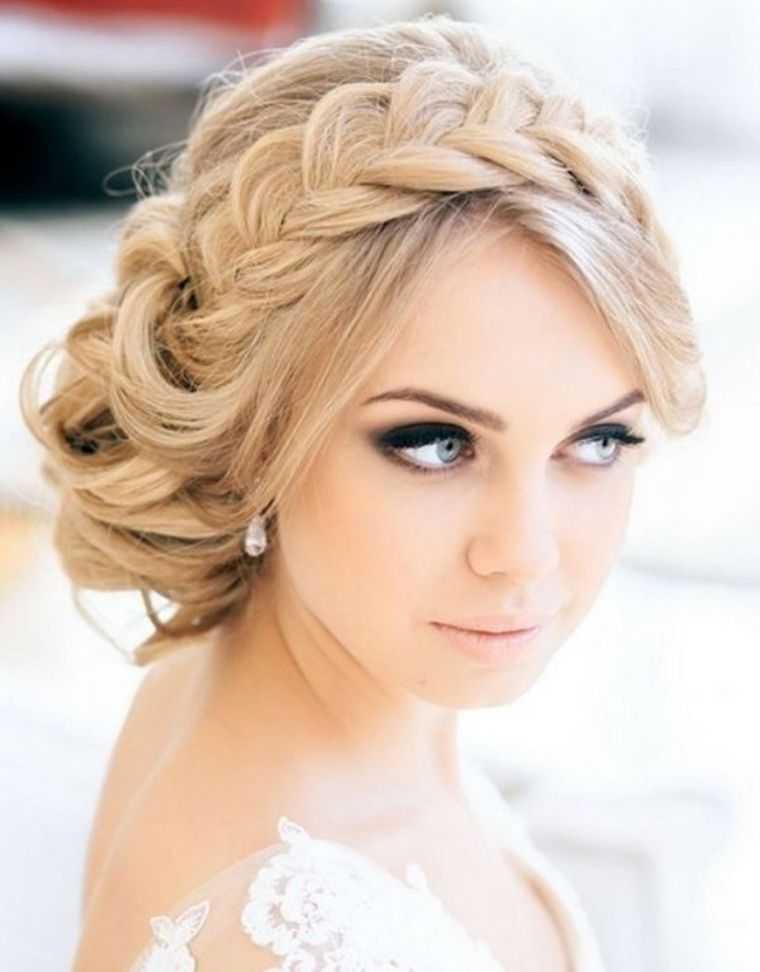 peinados de novia modelo bollo cortar la trenza