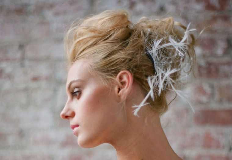 modelo de peinado de la boda bollo novia originales