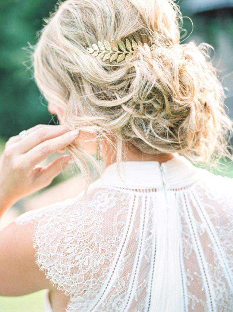 modelo de la boda romántica moño peinado