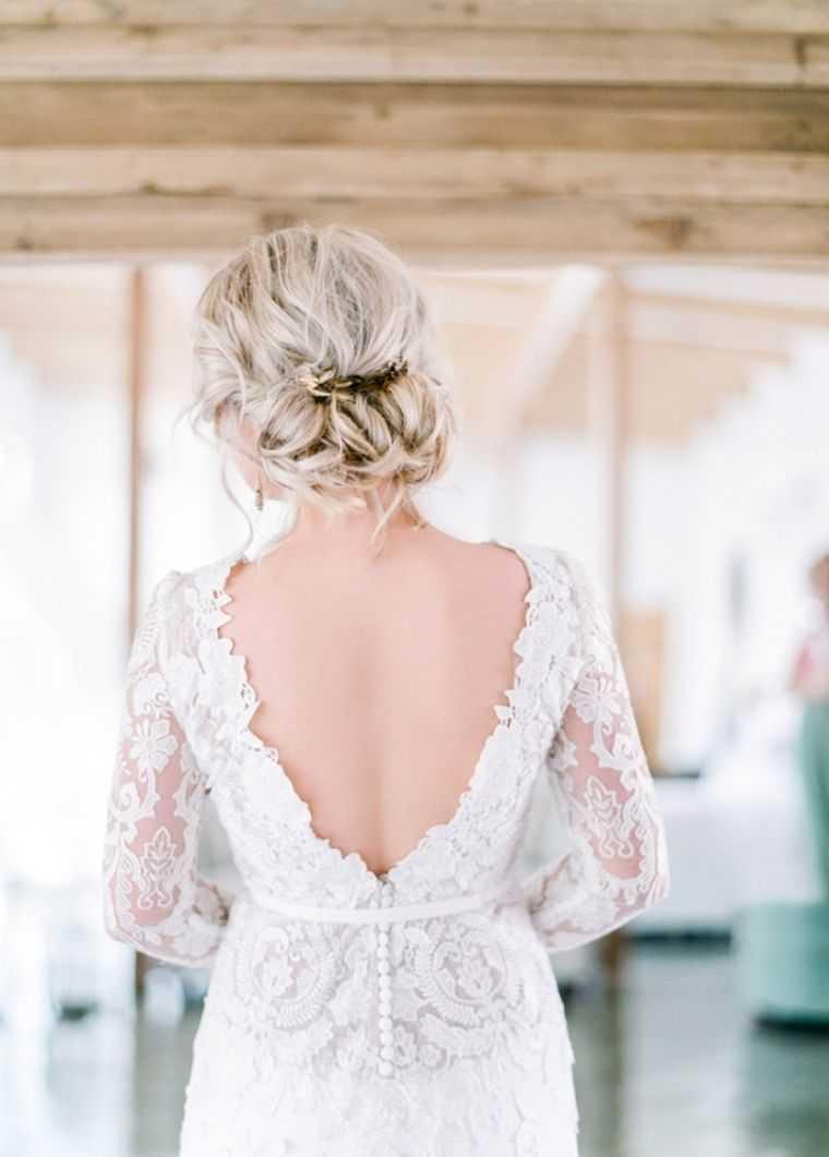 boda modelo bollo trenzas de pelo de novia