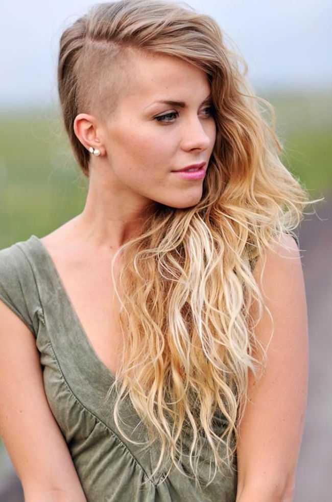 afeitado y un corte de pelo para las mujeres