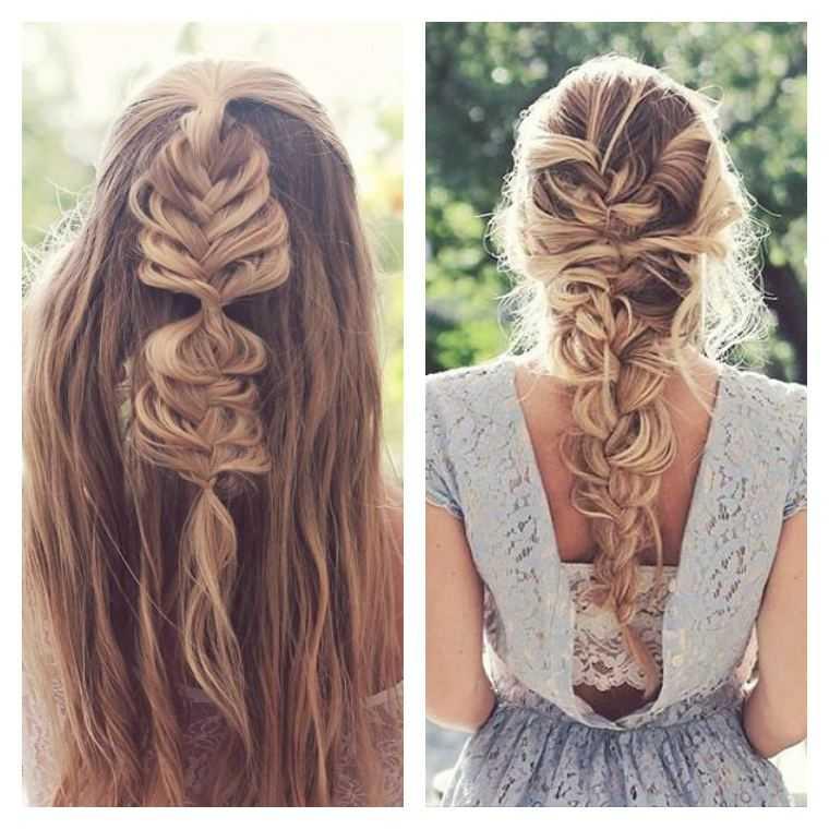 mujer trenzas peinados tutorial