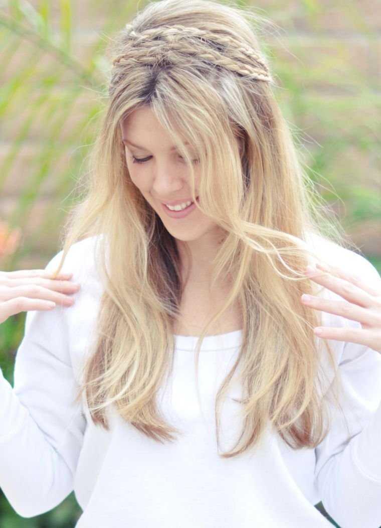 idea de la trenza peinado mujeres fáciles