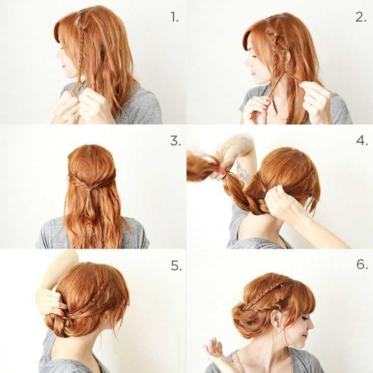 mujer del pelo pelo trenzado tutorial tendencia