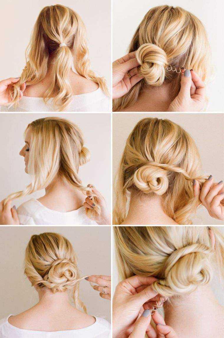 peinado de la boda tutorial modelo bollo
