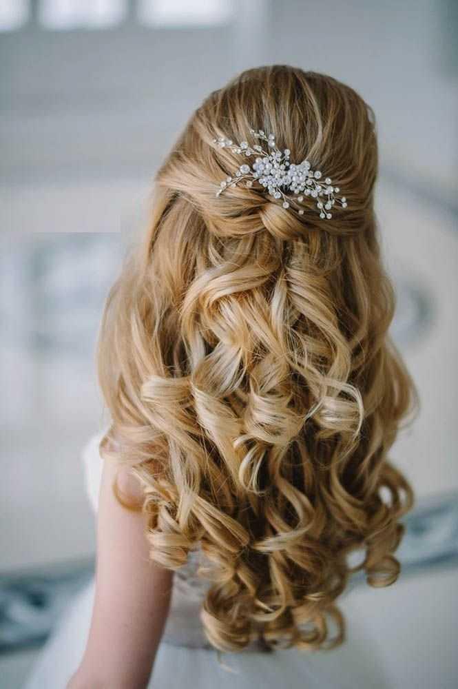 peinados de boda media hasta la mitad hacia abajo