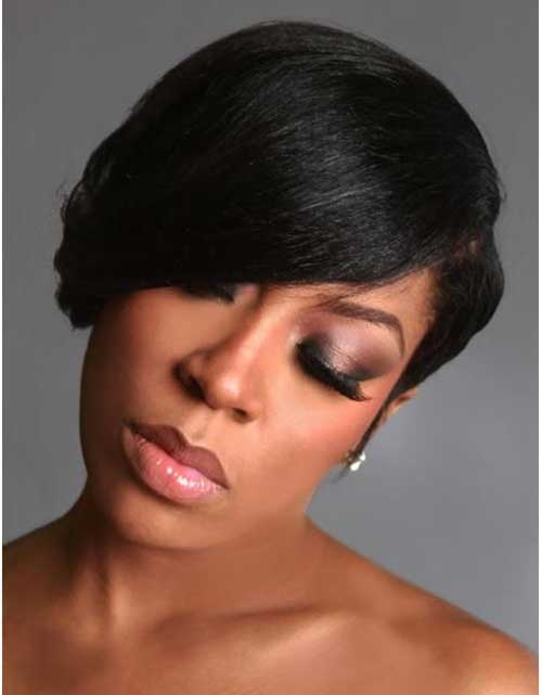 cortes de pelo corto para las mujeres Negro 2016-10