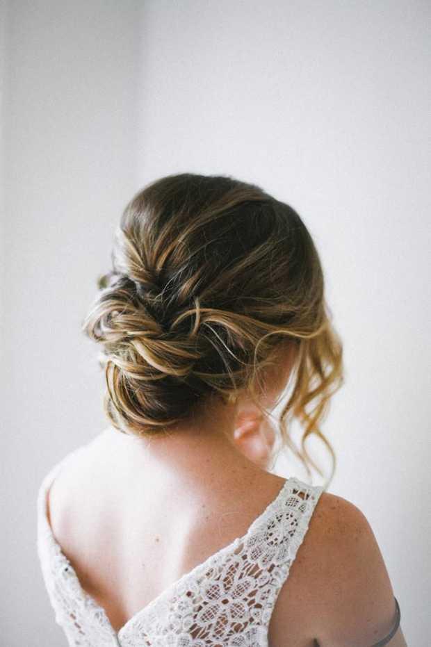 peinados de boda desordenado