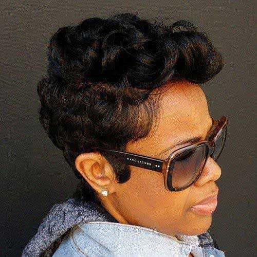 cortes de pelo corto para las mujeres Negro 2016-12