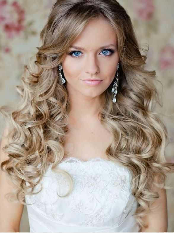 cortes de pelo rizado de la boda