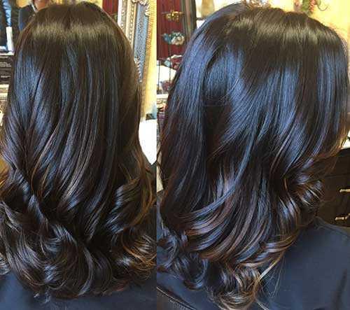 Las ideas de color de pelo para pelo oscuro-16