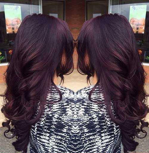 Las ideas de color de pelo para pelo oscuro-17