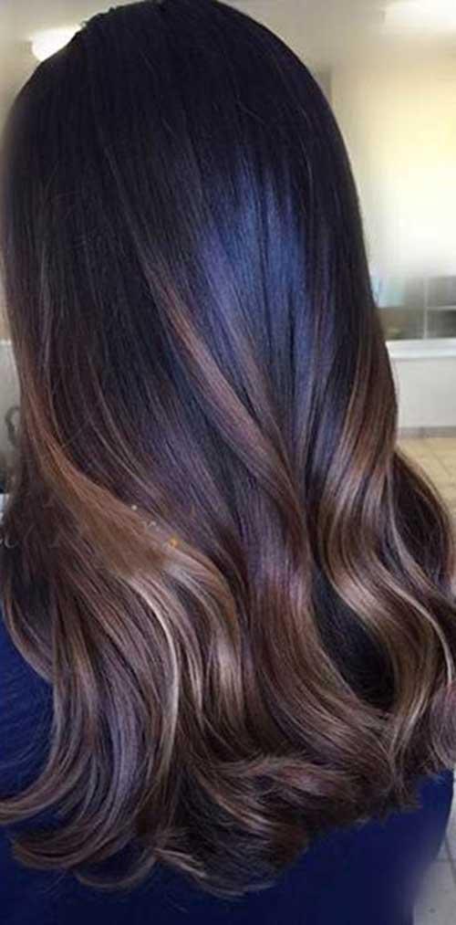Las ideas de color de pelo para pelo oscuro-18