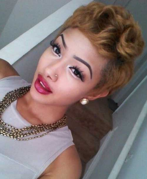 2016 cortes de pelo corto para las mujeres negras