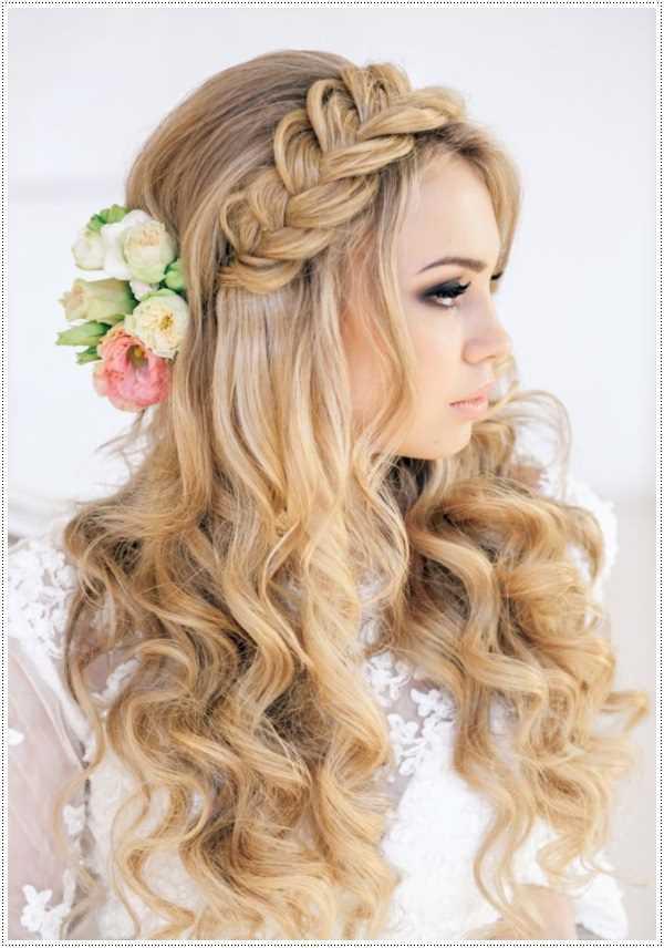 prom peinados con flores