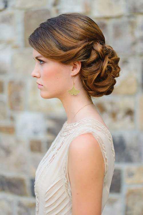 peinados de boda bollo