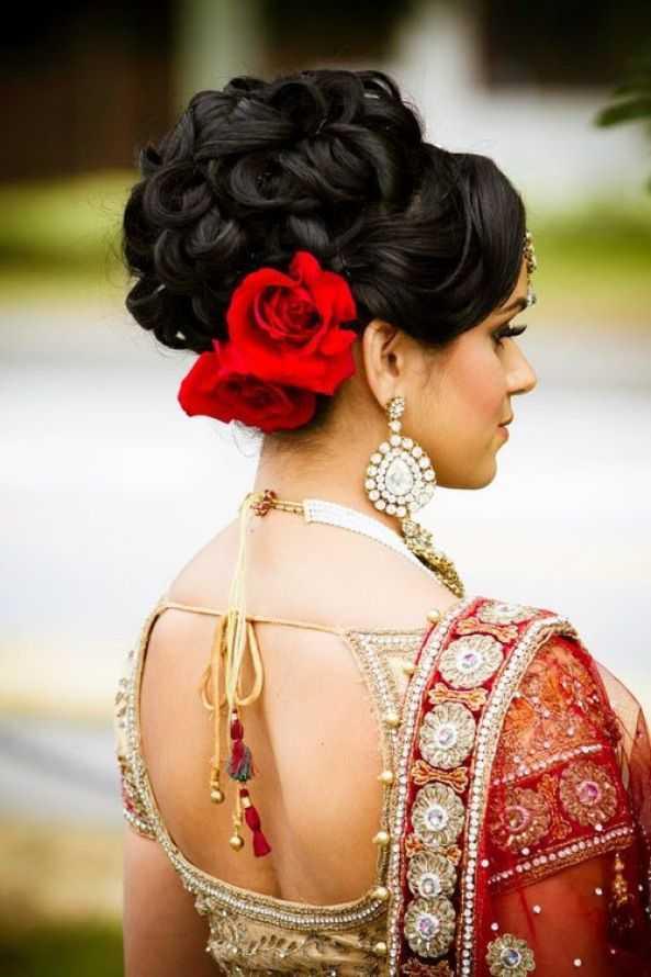 peinados de boda indio