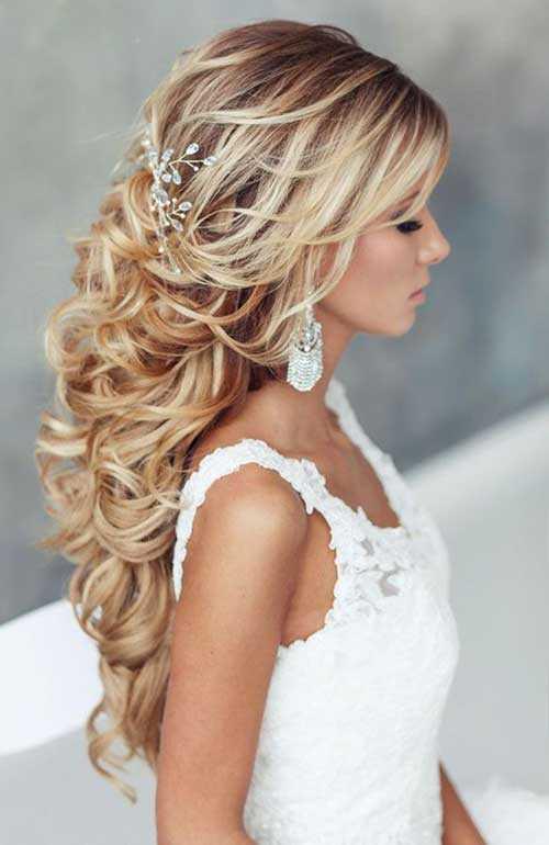 peinados de novia rubia