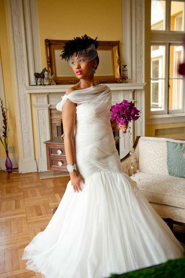 peinados de novia cortos para las mujeres negras