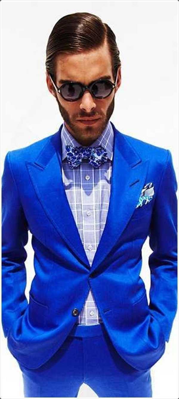 el traje de color azul brillante es la que debe estar buscando