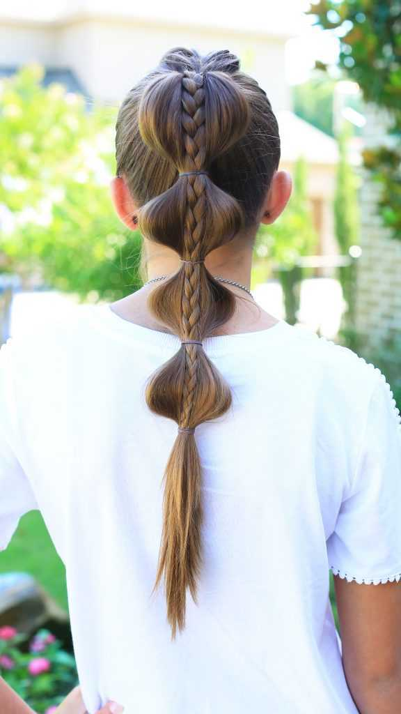 Stacked burbuja Braid | lindas chicas peinados