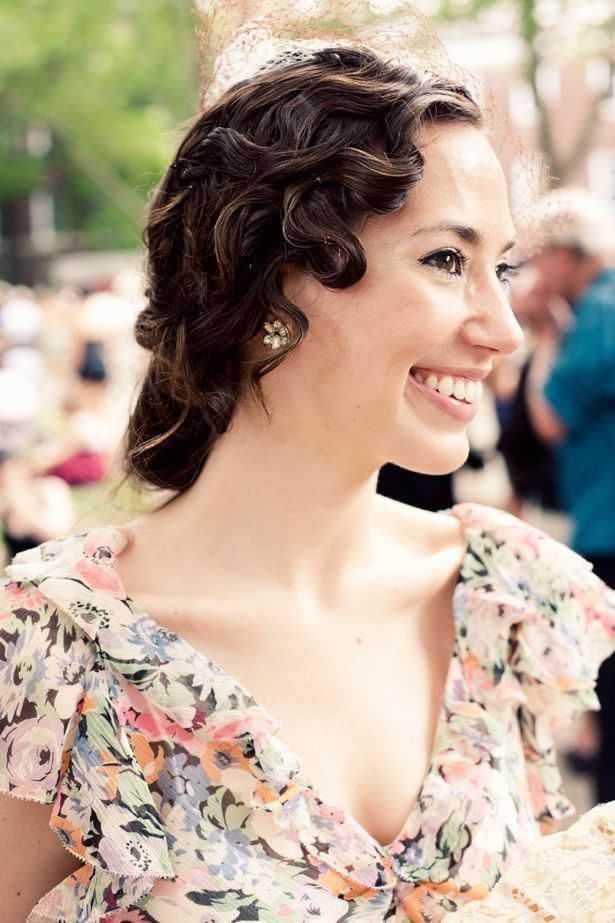 Gatsby peinados retro de la boda