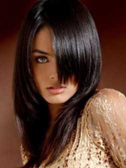 peinados formales rectas para el pelo medio