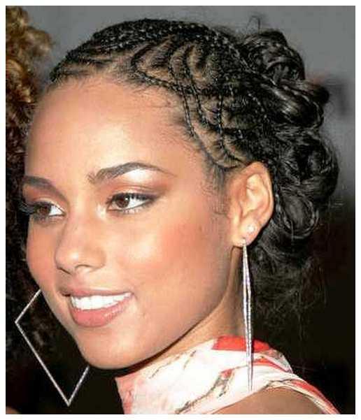 Estilos trenzado del pelo de Alicia Keys Estilos trenzado de cabello Galería