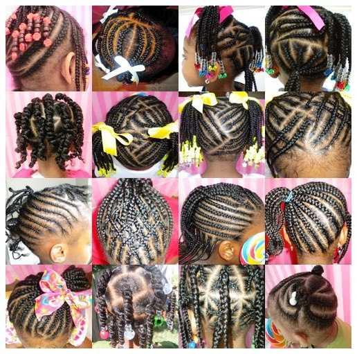 Niñas trenzado de cabello Estilos Negro trenzado de cabello estilos de galería