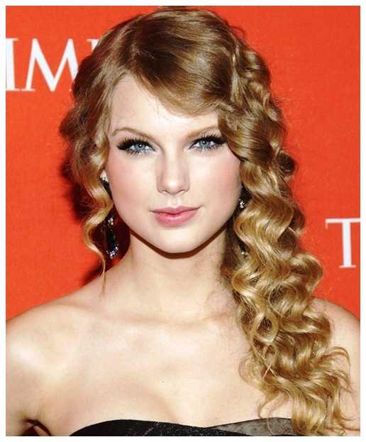 largo rizado peinados de Taylor Swift largo rizado peinados