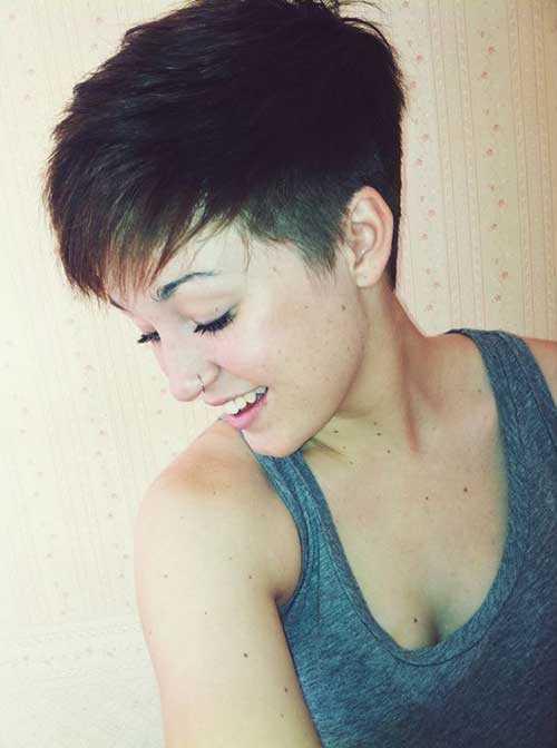 Pixie corte de pelo para el pelo grueso