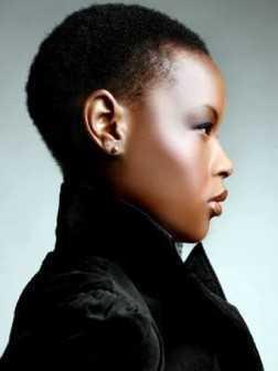 peinados muy cortos para las mujeres negras