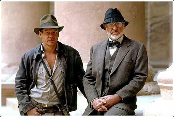 el sombrero del cubo también fue usado por Sean Connery en la película de Indiana Jones y la última cruzada