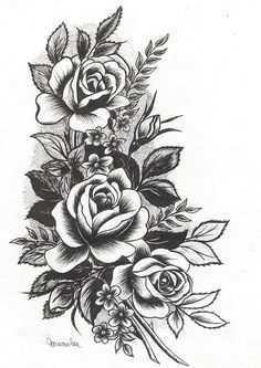 diseños de tatuaje de flores hermosas