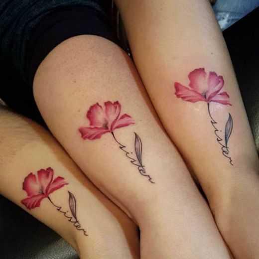 amigos de la flor del tatuaje de diseño