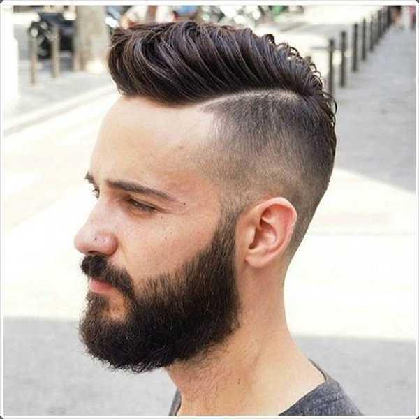 Tener una barba? Pruebe el lado corto y peinado largo superior