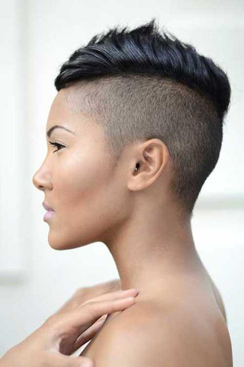 Pixie Cut de Negro mujeres-12