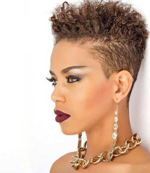 Pixie Cut de Negro mujeres-18