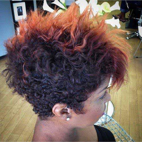 Pixie Cut de Negro mujeres-20