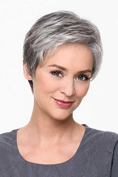 bonito corte de pelo gris