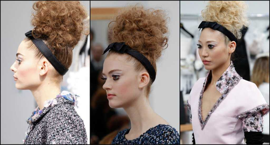 Chanel alta costura peinados altos de BUN 2017