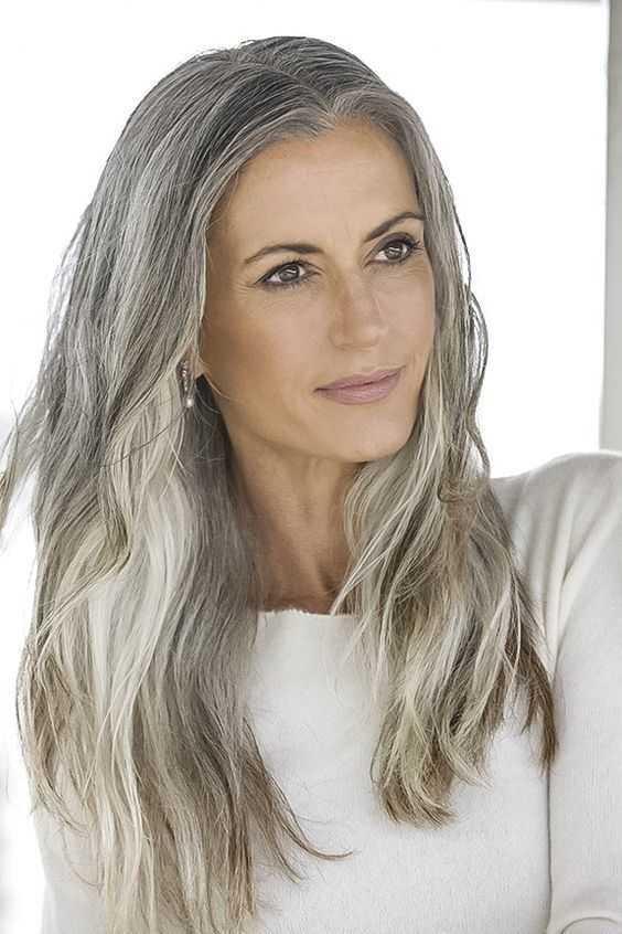 fabuloso plata y el pelo gris